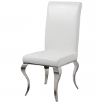 Chair glamor Premier White Eco - modern chair upholstered with eco-leather