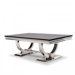 Coffee table Modena - steel modern glamour stone top