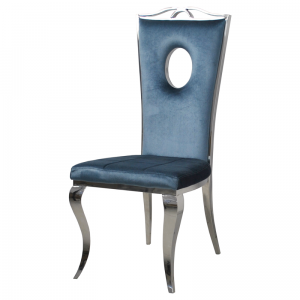 Chair glamor Luxury Blue - modern chair upholstered