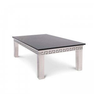 Coffee table Verona - steel modern glamour stone top