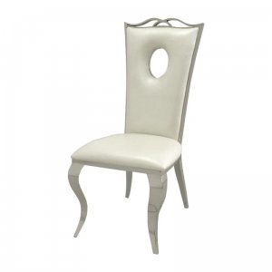 Chair glamor Luxury White Eco - modern chair upholstered with eco-leather