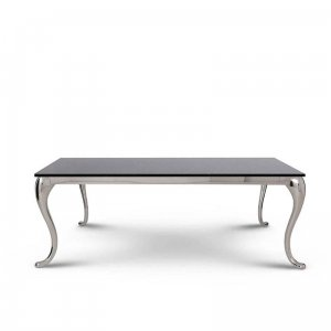 Coffee table Orlando - steel modern glamour glass top