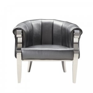 Armchair glamor Bradley - modern armchair upholstered with eco-leather