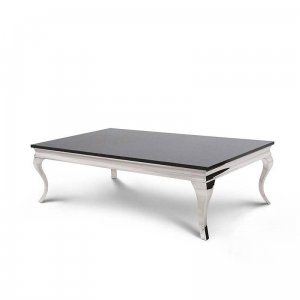 Coffee table Ludwik - steel modern glamour stone top