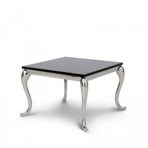 Side table Orlando - steel modern glamour stone top
