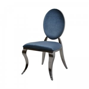 Chair glamor Ludwik II Blue - modern chair upholstered