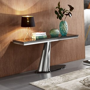 Console table Dorado - steel modern glamour glass top