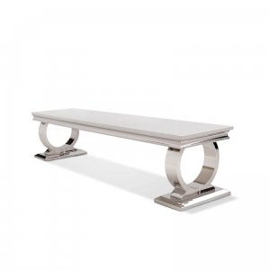 Audio and video console table Modena - steel modern glamour stone top