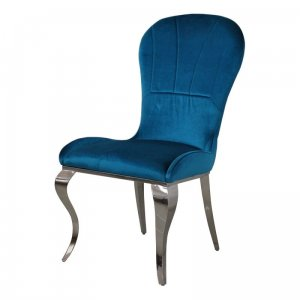 Chair glamor Tiffany Dark Blue - modern chair upholstered