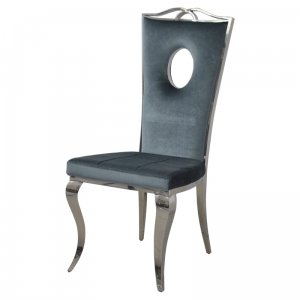 Chair glamor Luxury Dark Silver - modern chair upholstered