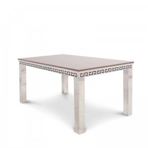 Dining table Verona - steel modern glamour stone top