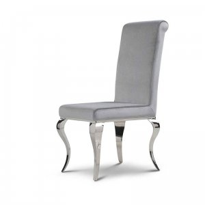 Chair glamor Premier Silver - modern chair upholstered