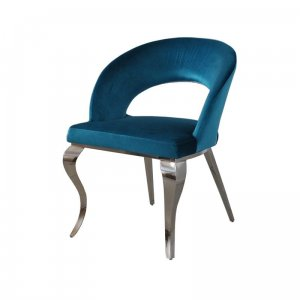 Chair glamor Anatole Dark Blue - modern chair upholstered