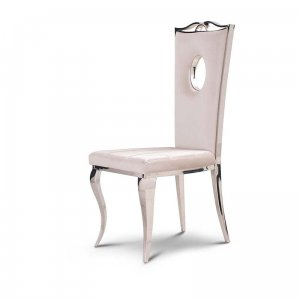 Chair glamor Luxury Milk - modern chair upholstered