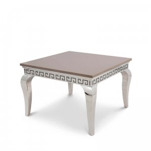 Side table London - steel modern glamour stone top