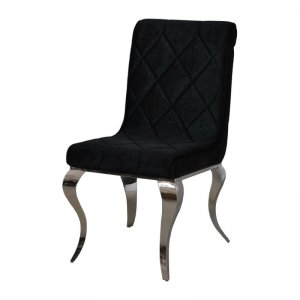Chair glamor Hamilton Black - modern chair upholstered