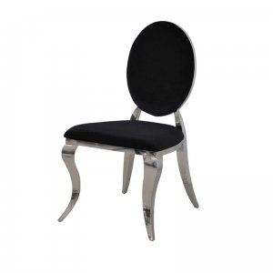 Chair glamor Ludwik II Black - modern chair upholstered