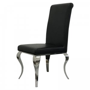 Chair glamor Premier Black Eco - modern chair upholstered with eco-leather