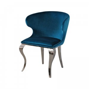 Chair glamor Victor Dark Blue - modern chair upholstered