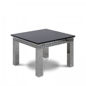 Side table Verona - steel modern glamour stone top