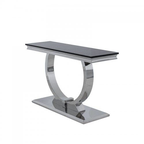 Console Table Modena Steel Modern Glamour Stone Top