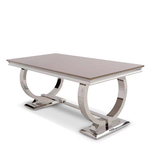 Barock Esstisch Modena   Edelstahl Steinplatte Modern Barock Tisch